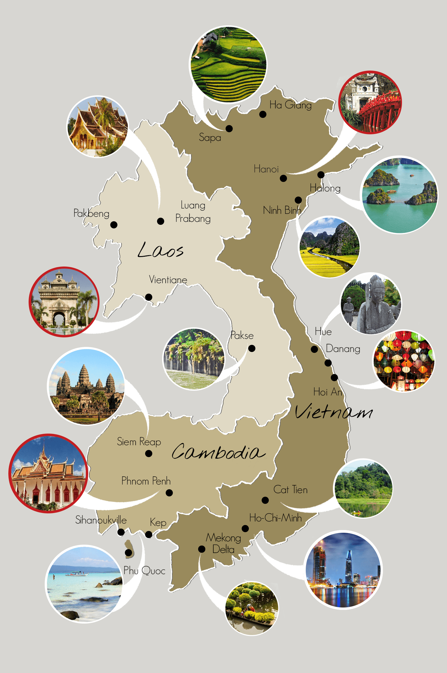 The Map of Vietnam Cambodia and Laos Cambodia Vietnam and Voyage