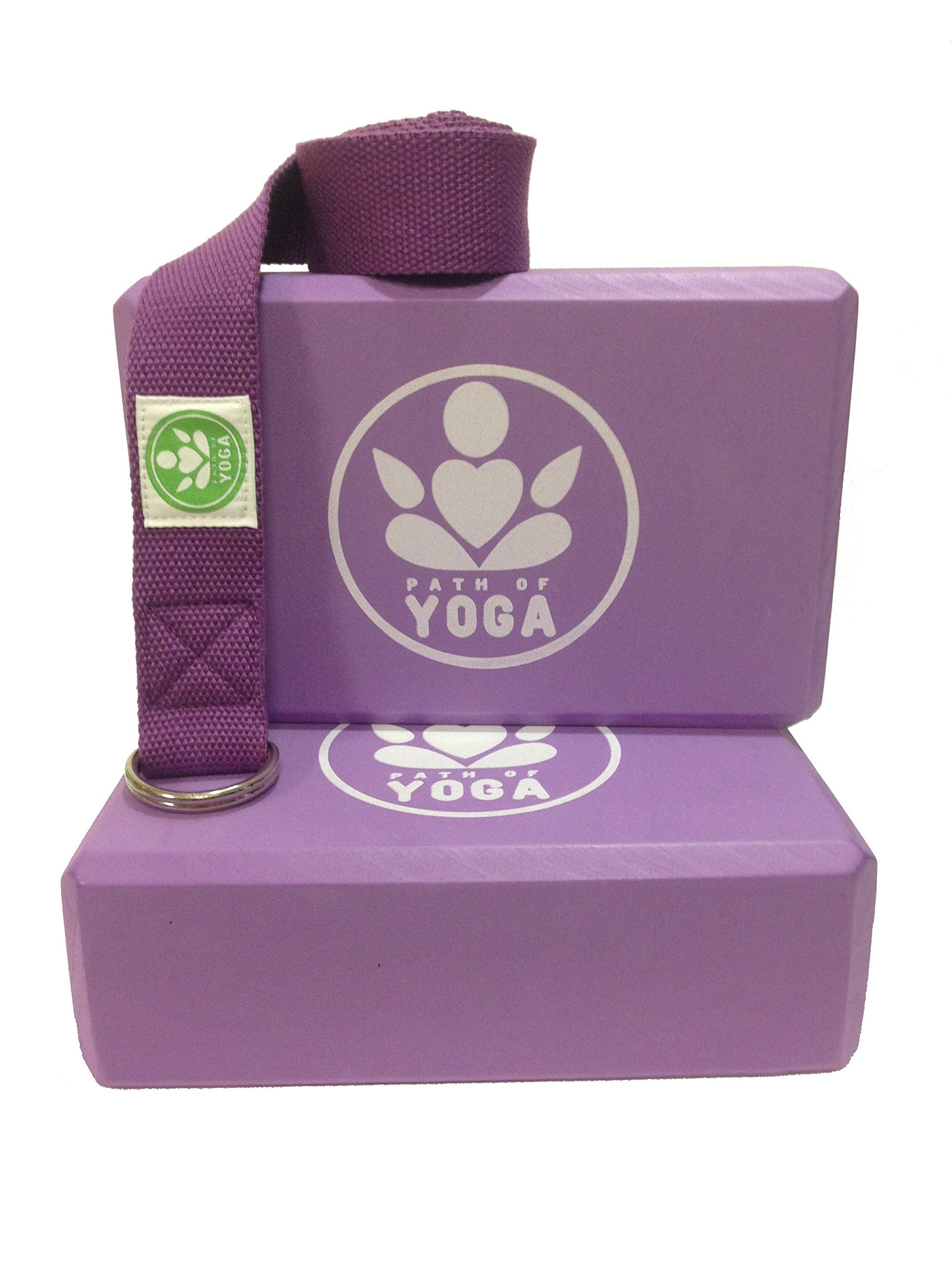 Path Of Yoga Blocks And Straps High Density Eva Foam Block Deepens Poses Improves Strength Balance And Flexibility Lightwei With Images Yoga Block Yoga Strap Foam Blocks