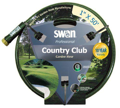 1 inch garden hose. Swan Country Club SNCCC01050 Professional Heavy Duty 1-Inch By 50-Foot Green Water 1 Inch Garden Hose