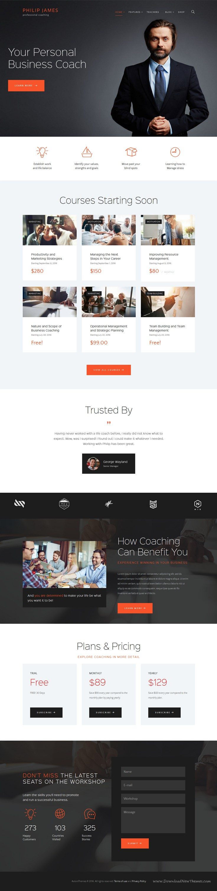PJ is a WordPress theme intended for life and business coaches who wish to make an impressive internet presentation by wonderful #website. #advisors #professional Download Now!