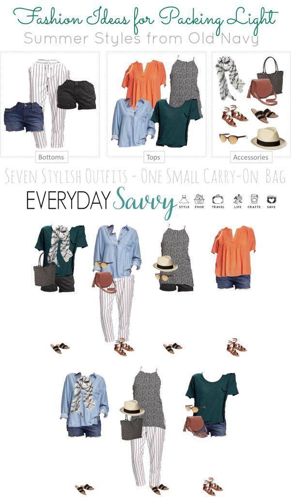 Summer Travel Capsule Wardrobe - Travel Light - Everyday Savvy #travelwardrobesummer