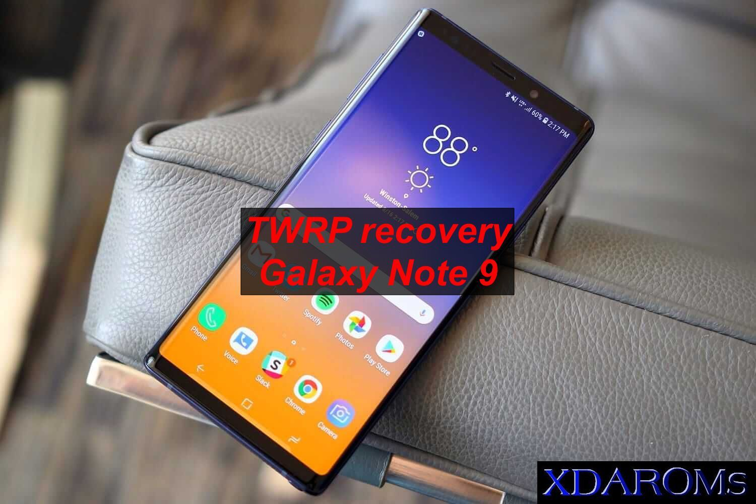 How To Install Twrp Recovery For Samsung Galaxy Note 9 Galaxy