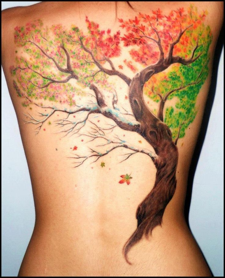 Four seasons tattoo. Remove extra autumn leaves falling into winter and add more #autumnleavesfalling Four seasons tattoo. Remove extra autumn leaves falling into winter and add more... #autumnleavesfalling