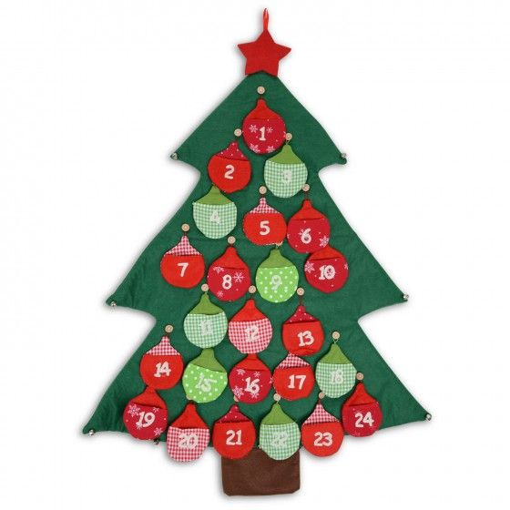 Large Christmas Bells Decorations Large Fabric Bauble Christmas Tree Advent Calendar With Jingle