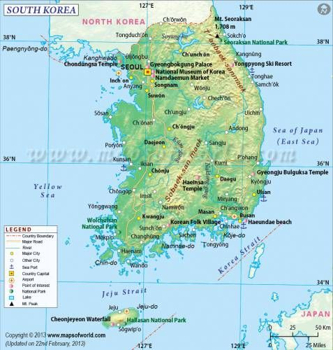 awesome South Korea Map Maps Pinterest South korea and Korea