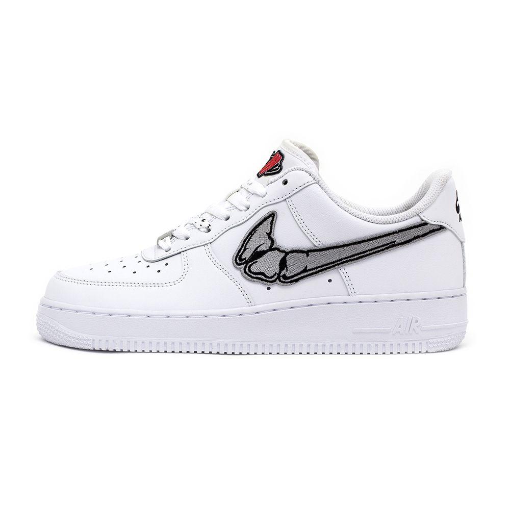 quality design de819 48094 FATAL AIR FORCE 1 Silver   White Low Custom Sneakers, finger, bones,  swoosh, customizer, nike, rock, trap, streetwear, street fashion