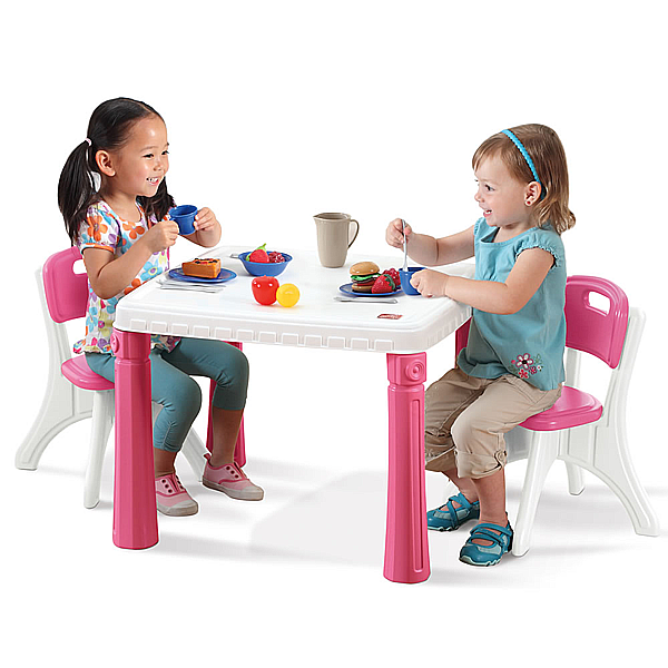 Step2 Kitchen Table Chairs Pink Kids Table And Chairs Table And