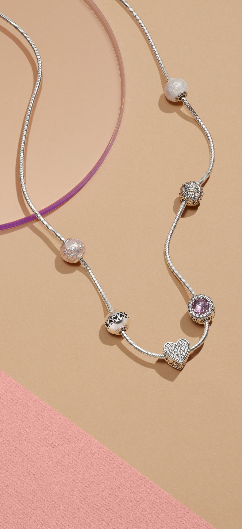 3eda82ff7 Express the essence of her with the PANDORA Essence Collection necklace  carefully crafted from sterling silver.
