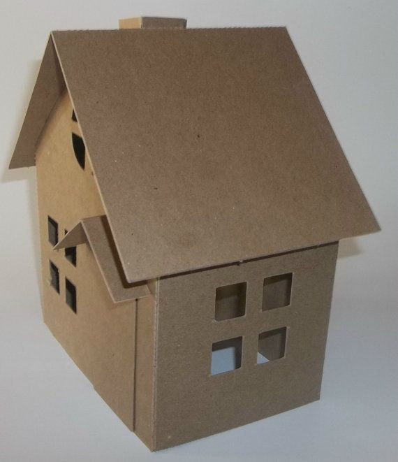 Putz Style Houses Large Cottage  DIY by littlevillagehouses, $12.00
