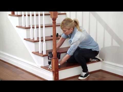 Hardwood Flooring On Stairs Installing, How To Install Laminate Flooring On Stairs With Spindles