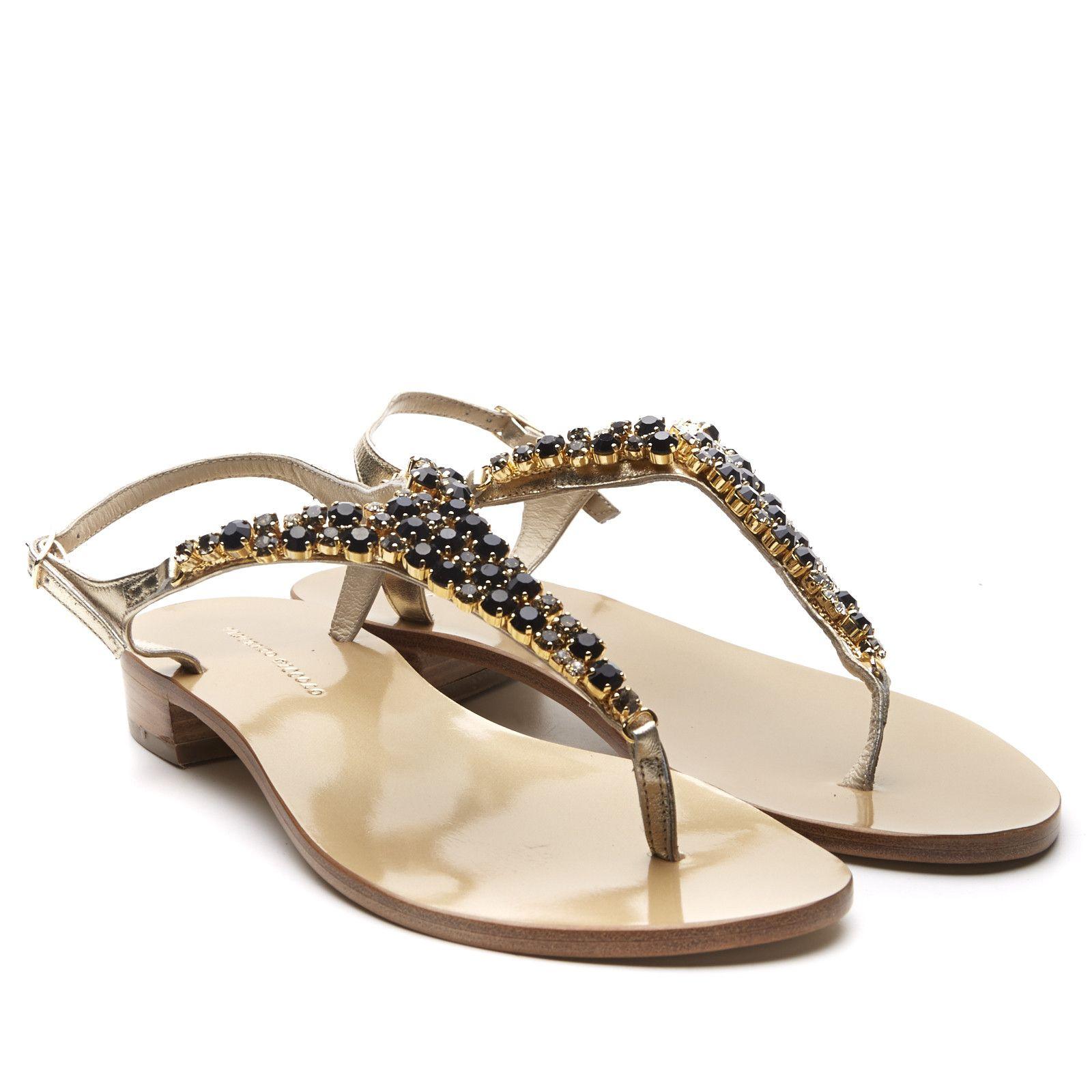 Vincenzo Piccolo Swarovski Crystal-Embellished Sandals