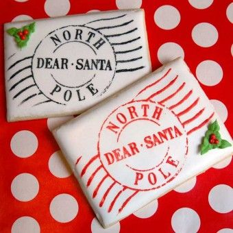North Pole Postmark Mesh Stencil Set Makes These Cookies So Easy And