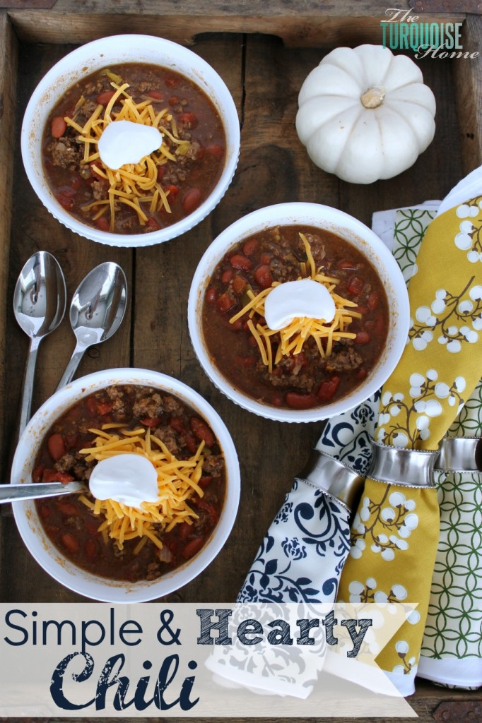 Simple and Hearty Chili {a family favorite!!}