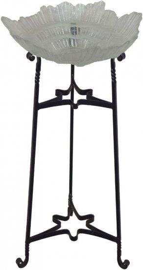 Hand Forged Bird Bath Stand With Gl Dish This Is An Elegant For Any Flat Area Of Your Garden And Patio Decorative Twisted