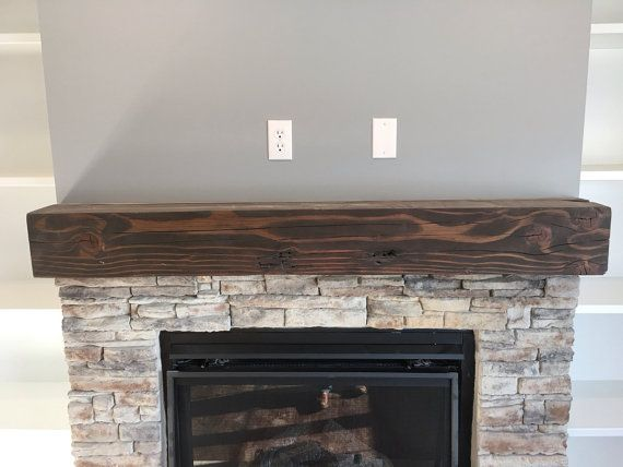 solid wood floating fireplace mantel rustic reclaimed for the home rh pinterest com