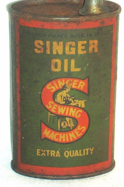 SINGER Sewing Machine Oil Tin Vintage Packaging Pinterest Extraordinary Singer Sewing Machine Oil Tin