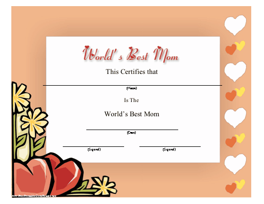Printable Happy Mothers Day Cards | Mothers day cards ...  |Happy Mothers Day Certificate Printables