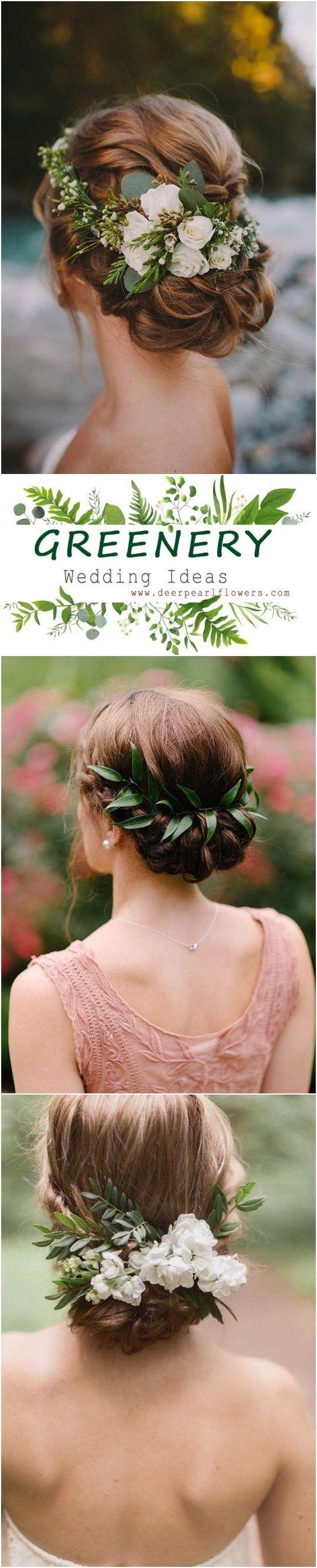 Greenery Rustic Wedding Hairstyle Ideas Green Wedding Weddingideas Dpf Deerpearlflowers R Rustic Wedding Hairstyles Rustic Bridesmaids Wedding Hairstyles