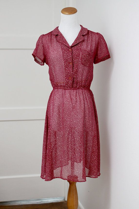 Vintage Button Up Dress Small