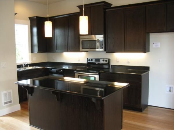 Kitchen Allenmore Heights Dark Granite Espresso Kitchen Cabinets Dark Cabinets