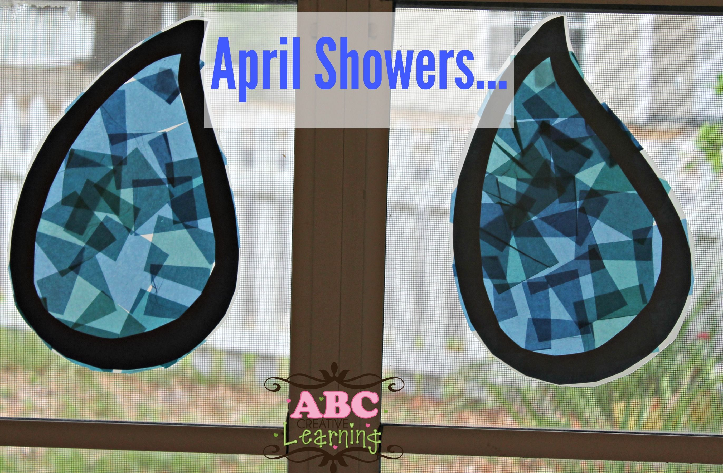 April Showers Rain Drop Craft For Kids