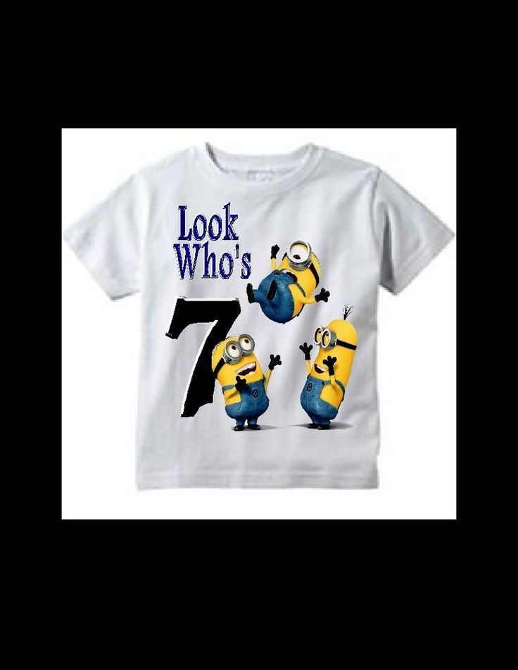 Minion Birthday T Shirt 4t 5t Boys Scooby Doo Minions Everyday