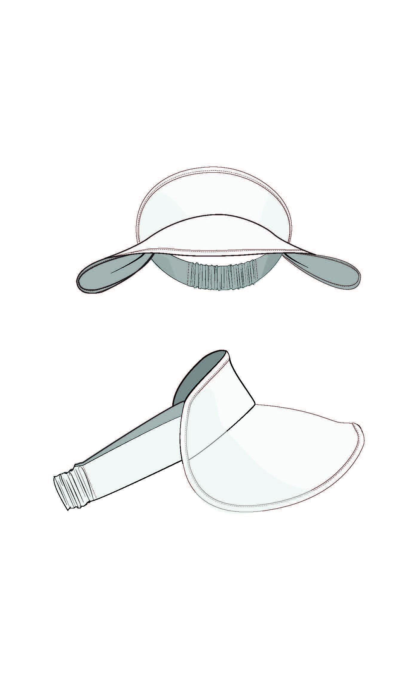 Lucent Visor Pdf The Foldline Drawing Hats Fashion Design Sketches Visor