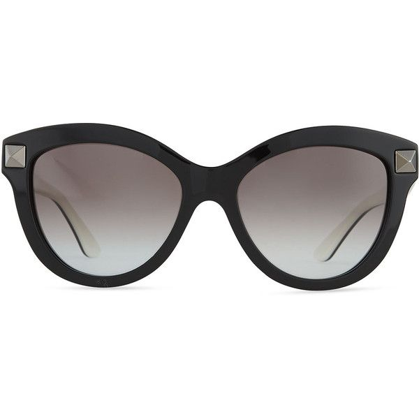 cc2fa8fa464d Valentino Rockstud-Front Cat-Eye Sunglasses ($346) ❤ liked on Polyvore  featuring accessories, eyewear, sunglasses, glasses, óculos, cateye  sunglasses, ...