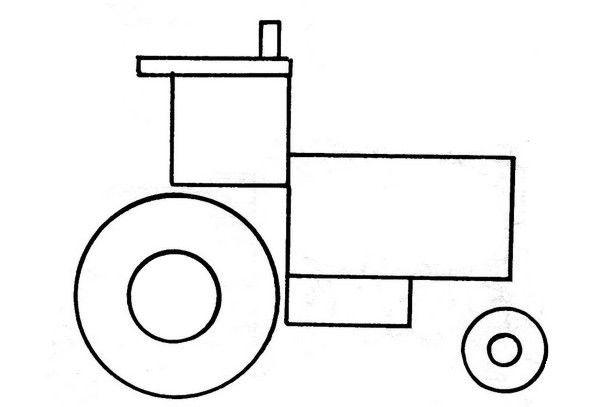 Tractor De Figuras Geometricas Para Colorear Con Imagenes