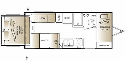 2010 Keystone Rv Outback Series M 210 Rs Floorplan Prices Values
