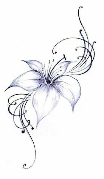 beautiful flowers tatto pinterest initial tattoo. Black Bedroom Furniture Sets. Home Design Ideas
