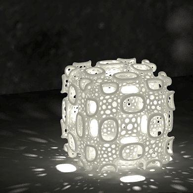 Cree Lampshade By Dizingof Wow Part Of The New Range Of 3d Printed Products Of The Modern World 3d Printed Metal 3d Printing Art 3d Printing Diy