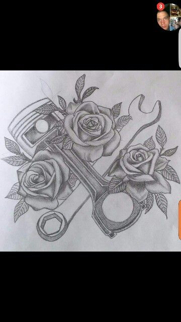For My Fellow Gearhead Women Tattoos And Piercings Car Tattoos