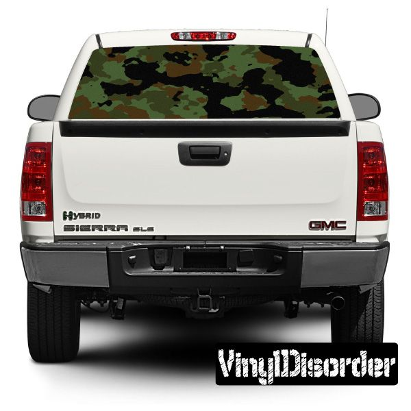 Camouflage Rear Window View Through Graphic Og002