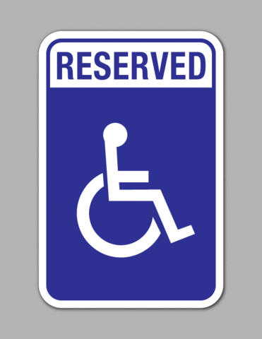 Reserved Handicap Parking Parking Sign Standard Blue Background Parking Signs Park Signage Sign Art