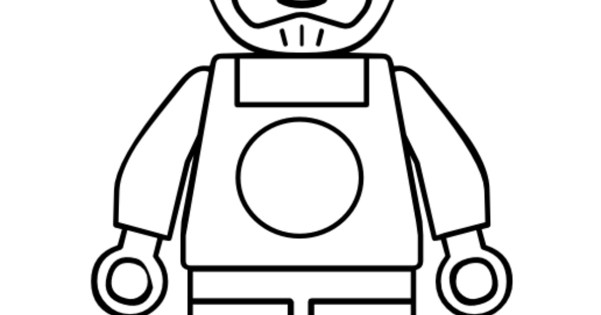 LegoManRaceCarDriver.pdf | People coloring pages, Lego ...