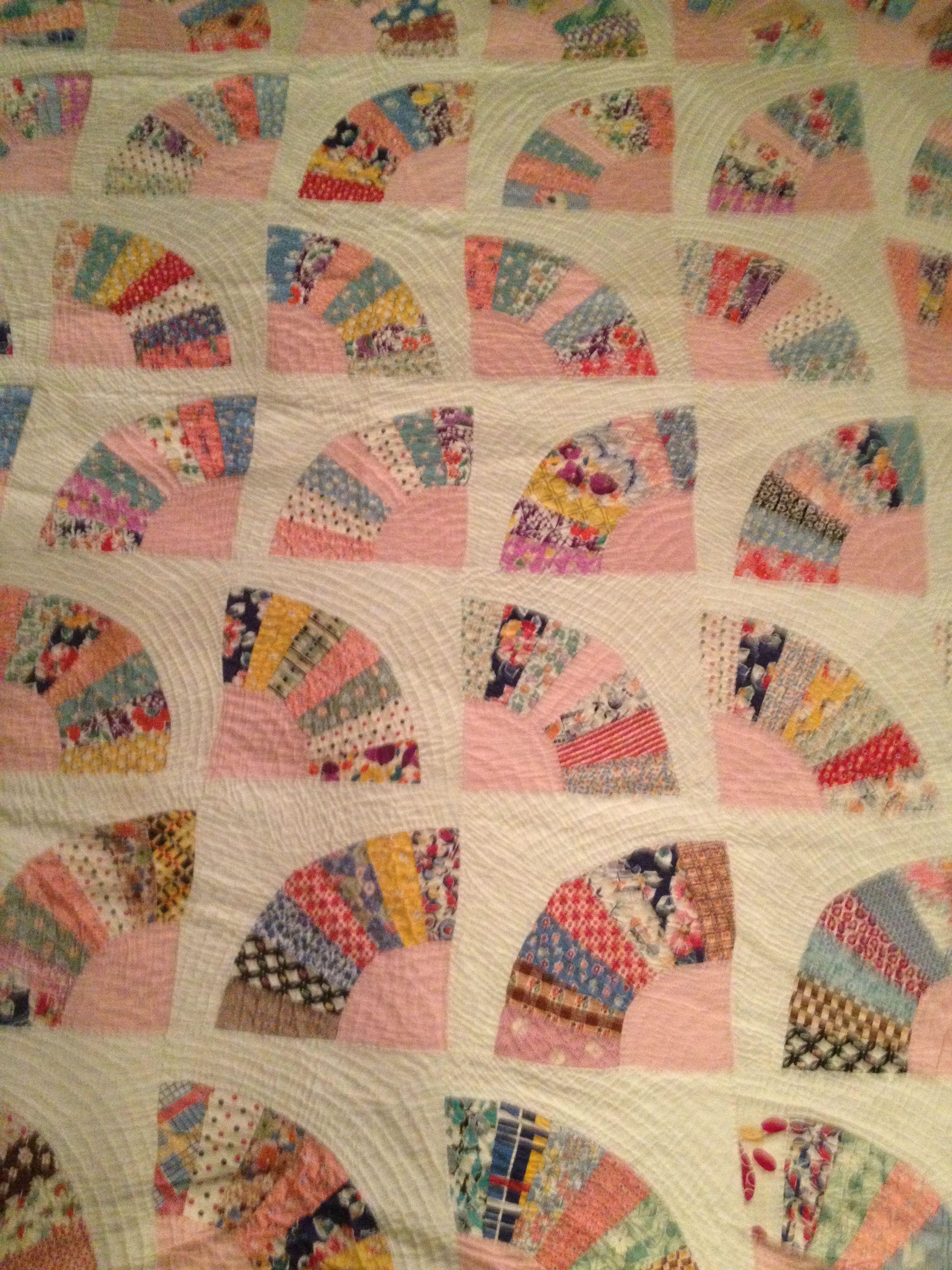 Fan Quilt Pink Quilts Vintage Quilts Patterns Vintage