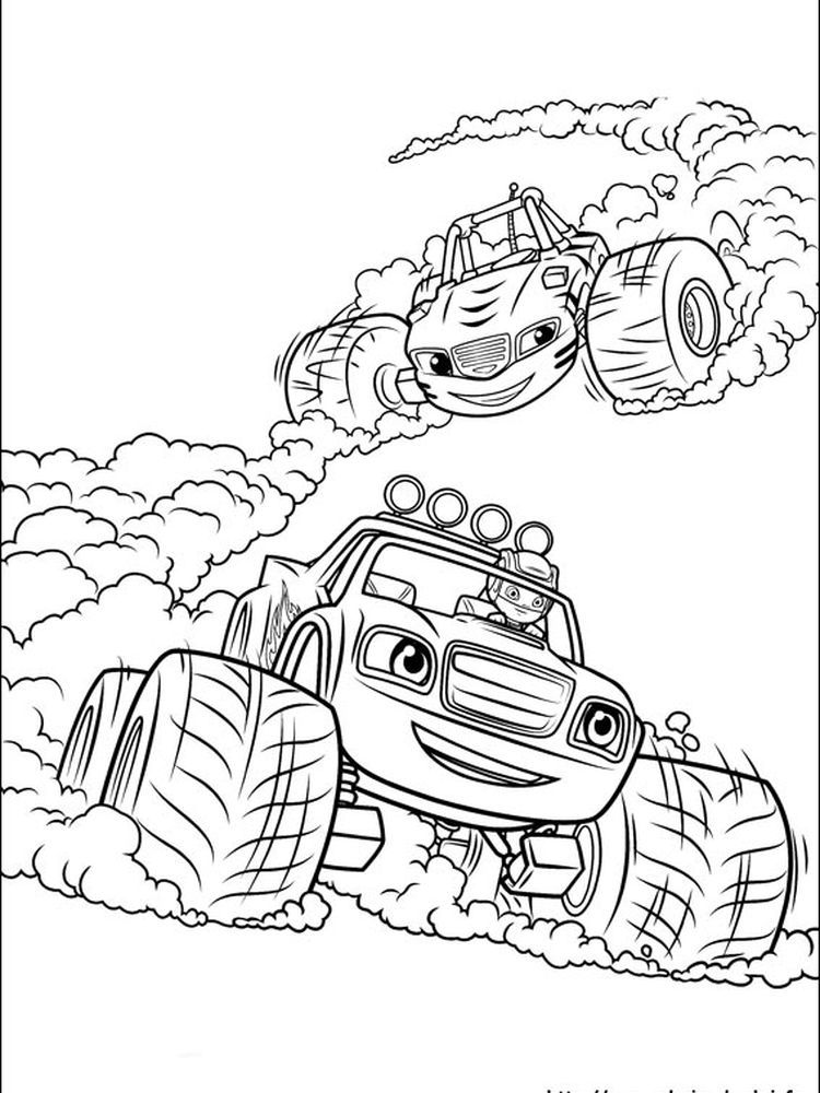 Christmas Monster Truck Coloring Pages Portraits