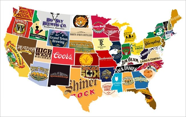 Another Handy Map Of The US Shows Each States Biggest Liquor Or - Beer Map Of The Us