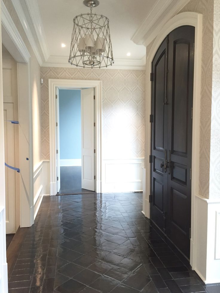 Before And After Staining Saltillo Tile Home Reno Pinterest