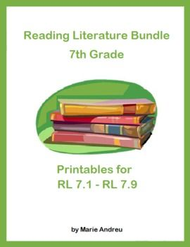 Set of 9 printables that can be used with any literature collection. A lifesaver if your textbooks and supplementary resources are not yet aligned …