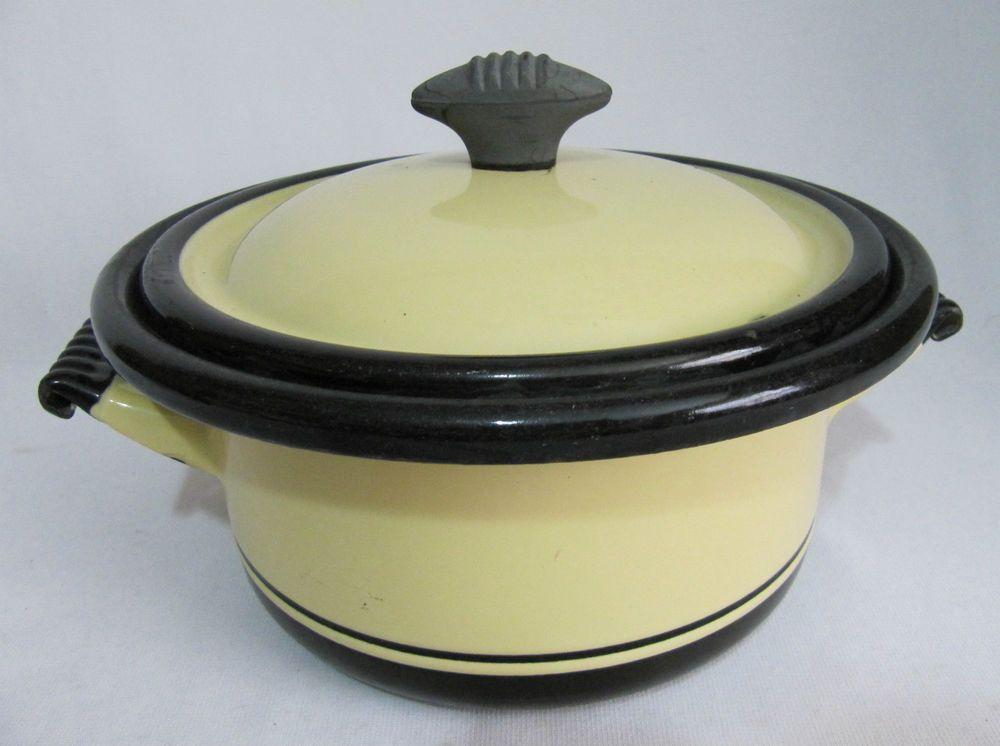 Vollrath kook king ware art deco enamel wear covered pan s