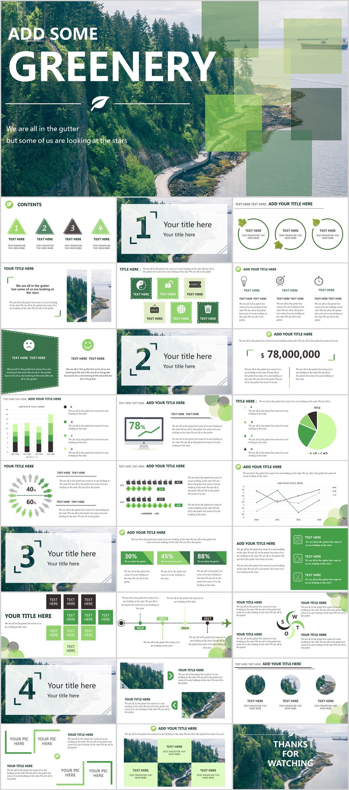 28+ Green annual report chart PowerPoint templates