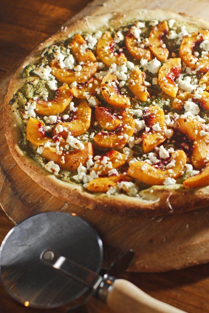 Peach + Tarragon Pesto Pizza