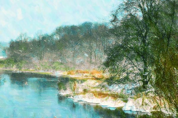 I uploaded new artwork to fineartamerica.com! - 'Beautiful View On The Winter River' - http://fineartamerica.com/featured/beautiful-view-on-the-winter-river-lanjee-chee.html via @fineartamerica