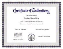 Certificate Of Authentication Template from i.pinimg.com