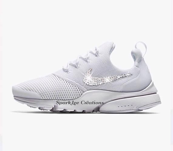 Womens Nike Presto Fly Bling Nike Presto Custom Crystal Sneakers Bling Nikes  Chaussures Nike a1090c74b521