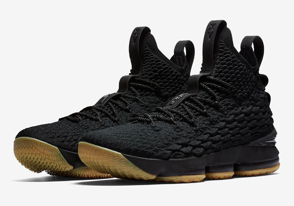 sneakers  news Nike LeBron 15 In Black Gum Releases On Black Friday b61f69d46