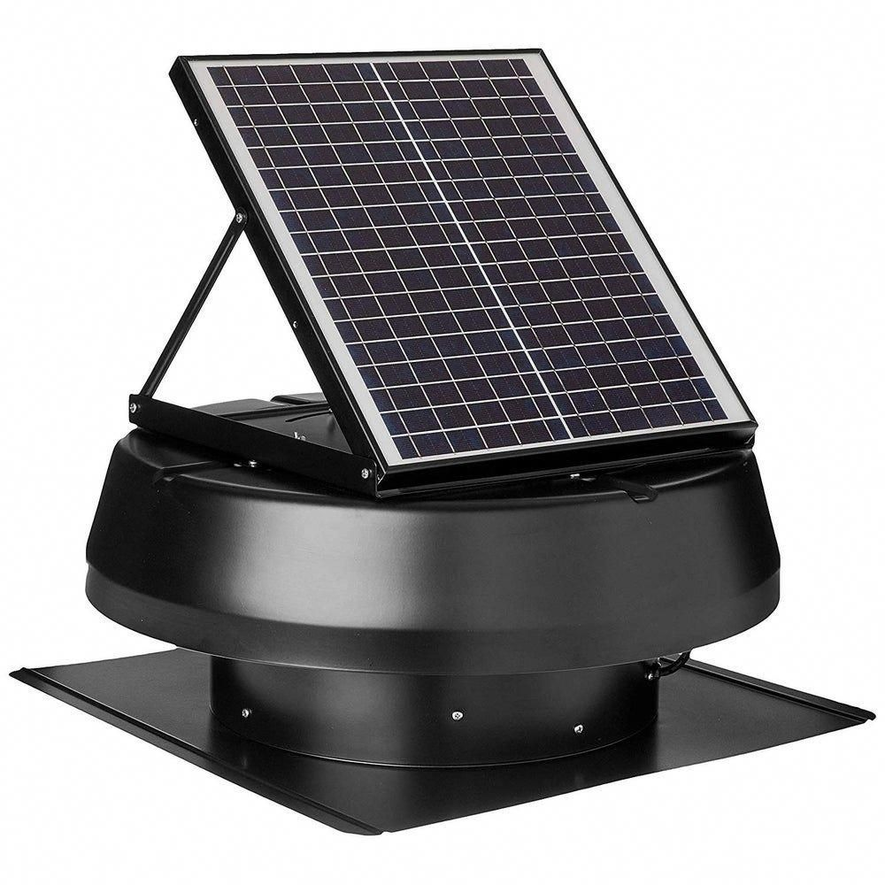 Iliving Smart Solar Attic Exhaust Fan 14 Black 21x21x10 Black Metal Solarpanels Solarenergy Solarpower In 2020 Attic Exhaust Fan Solar Powered Fan Exhaust Fan