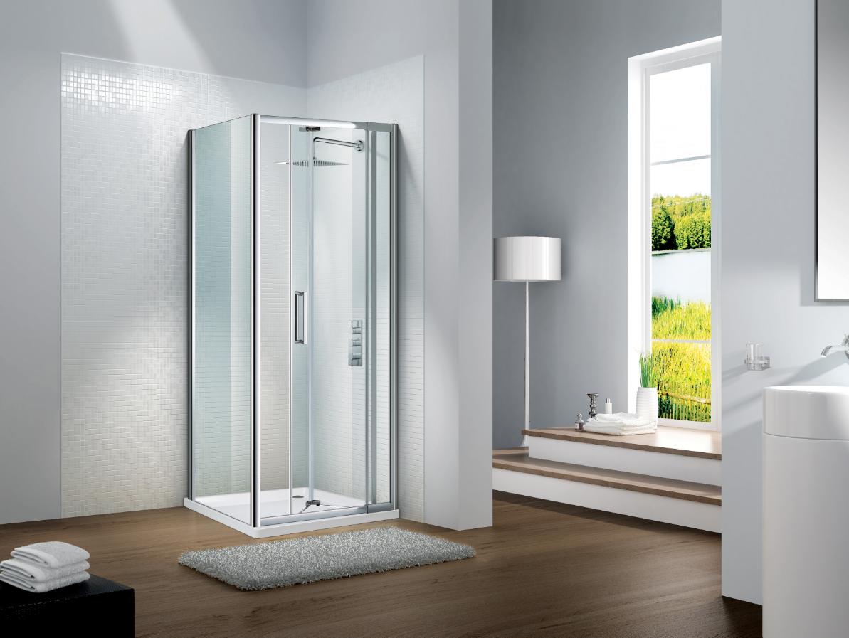 Slimline Capella Bifold Door And Optional Side Panel Shower Door